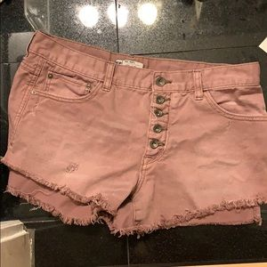 Free People Pink Shorts Size W 29